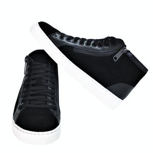 Vionic Splendid Torri 7 Zip Lace Up Sneakers Black